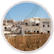 Cave Hotel Round Beach Towel