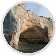Cave On The Water Round Beach Towel