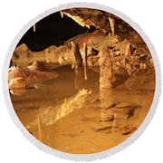 Cave Reflections Round Beach Towel