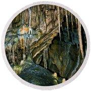 Cave03 Round Beach Towel by Svetlana Sewell