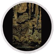 Caverns Round Beach Towel