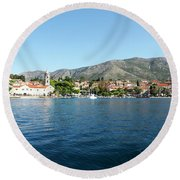 Cavtat, Croatia Round Beach Towel
