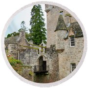 Cawdor Castle Round Beach Towel
