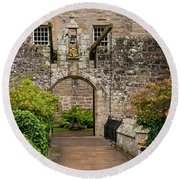 Cawdor Castle Entrance Round Beach Towel