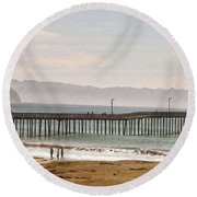 Caycous Pier II Round Beach Towel