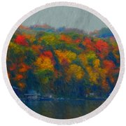 Cayuga Autumn Round Beach Towel