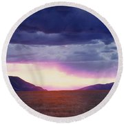 Cdt Sunset Round Beach Towel