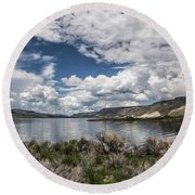 Blue Mesa Round Beach Towel