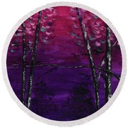 Cease Striving And Know Round Beach Towel