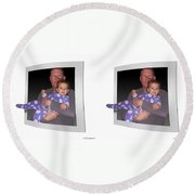 Cece - Gently Cross Your Eyes And Focus On The Middle Image Round Beach Towel by Brian Wallace