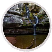 Cedar Falls In Hocking Hills State Park Round Beach Towel