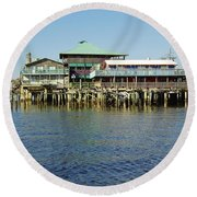 Cedar Key Waterfront Round Beach Towel