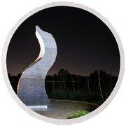 Cedar Park Sculpture Flame Round Beach Towel