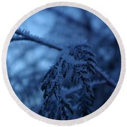 Cedars Of Ice II Round Beach Towel