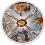 Ceiling Of The Chapel Of Eleonora Of Toledo Round Beach Towel