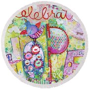 Celebrate Hope Round Beach Towel