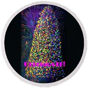 Celebrate In Lights Round Beach Towel