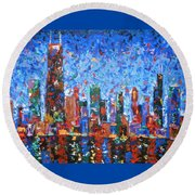 Celebration City Round Beach Towel