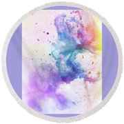 Celebration Of Colors  Round Beach Towel
