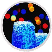 Celebrations With Blue Lagon Round Beach Towel