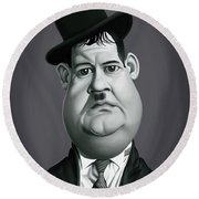 Celebrity Sunday - Oliver Hardy Round Beach Towel