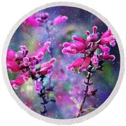 Celestial Blooms-2 Round Beach Towel