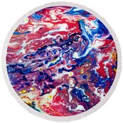 Celestial Crab Round Beach Towel