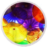 Celestial Glass 3 Round Beach Towel