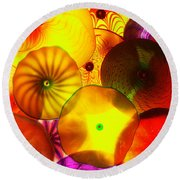 Celestial Glass 4 Round Beach Towel