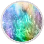 Celestial Light  Round Beach Towel