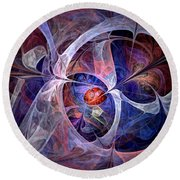 Celestial North - Fractal Art Round Beach Towel