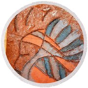 Celia - Tile Round Beach Towel