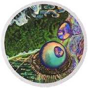 Cell Interior Microbiology Landscapes Series Round Beach Towel