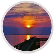 Cell Phone Shooter  Round Beach Towel