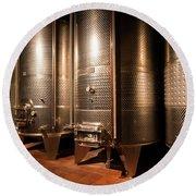 Modern Wine Cellar  Round Beach Towel