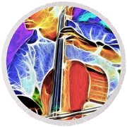 Cello Round Beach Towel by Stephen Younts