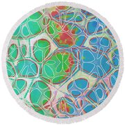 Cells 11 - Abstract Painting  Round Beach Towel