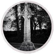 Celtic Cross In Killarney Ireland Round Beach Towel
