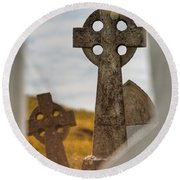 Celtic Crosses Round Beach Towel