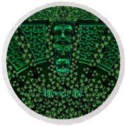 Celtic Green Man Round Beach Towel