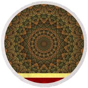 Celtic Hills Round Beach Towel