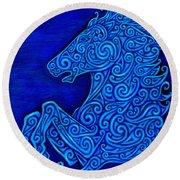 Celtic Horse Round Beach Towel