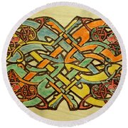 Celtic Knot 1 Round Beach Towel