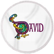 Decorative Celtic Name David Round Beach Towel