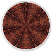 Celtic Ribbons Tile K7-2 Bronze Round Beach Towel