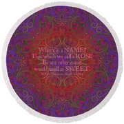 Celtic Romeo And Juliet Round Beach Towel