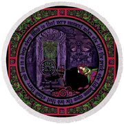 Celtic Sleeping Beauty Part II The Wound Round Beach Towel