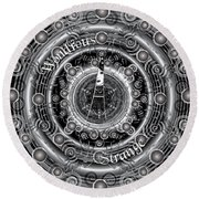 Celtic Wondrous Strange Round Beach Towel