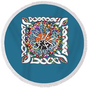 Celts Box Round Beach Towel