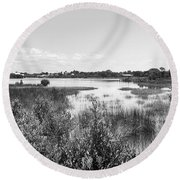 Cemetary Point Boardwalk Round Beach Towel